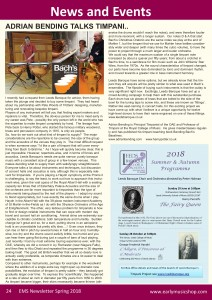 Early Music Shop Newsletter article